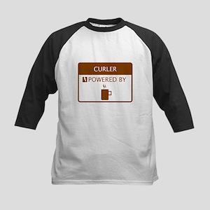 Curler Powered by Coffee Kids Baseball Jersey