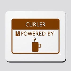 Curler Powered by Coffee Mousepad