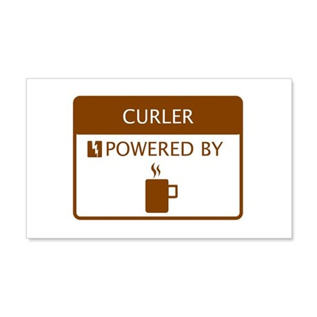 Curler Powered by Coffee 20x12 Wall Decal
