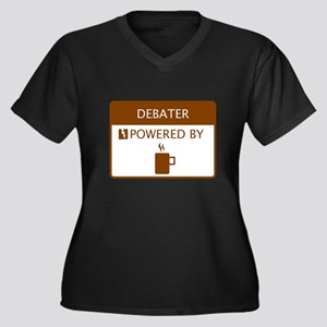 Debater Powered by Coffee Women's Plus Size V-Neck