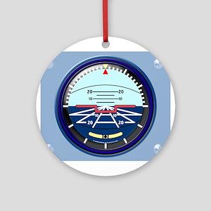 Artificial Horizon (blue) Ornament (Round)