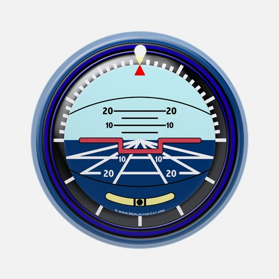 Artificial Horizon (blue) Ornament (Round)