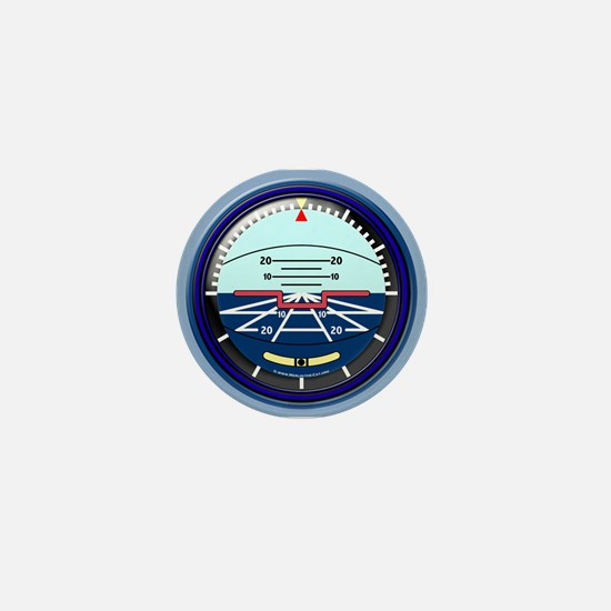 Artificial Horizon (blue) Mini Button