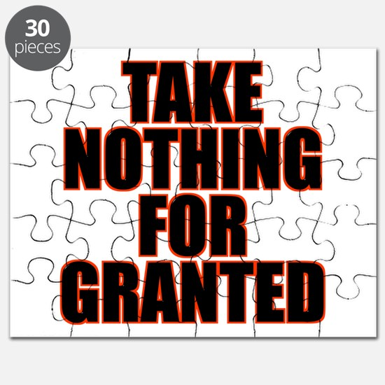 Take Nothing For Granted Puzzle