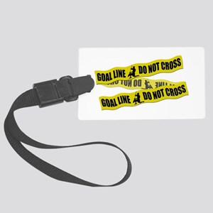 Lacrosse Goalie Crime Tape Large Luggage Tag