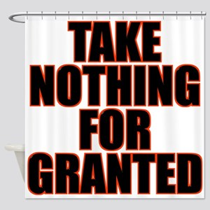 Take Nothing For Granted Shower Curtain