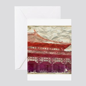 Chinese Rooftop I Greeting Card