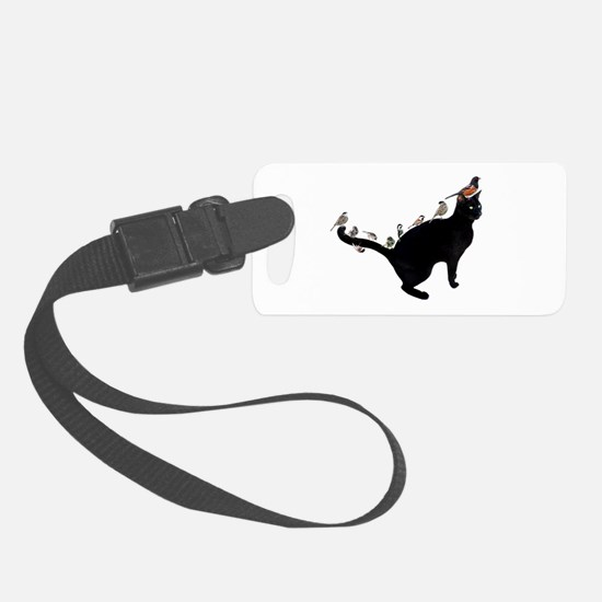 Birds on Cat Luggage Tag