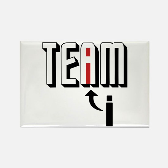 I In Team Rectangle Magnet (10 pack)