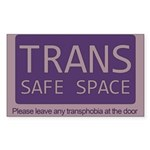 Classic Trans Safe Space Sticker (Rectangle)