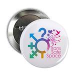 """Trans Safe Space 2.25"""" Button"""