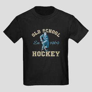 Old School Hockey Kids Dark T-Shirt