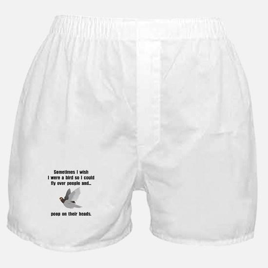 Bird Poop On Head Boxer Shorts