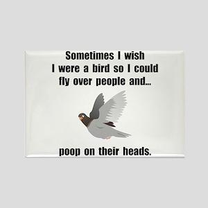 Bird Poop On Head Rectangle Magnet (10 pack)
