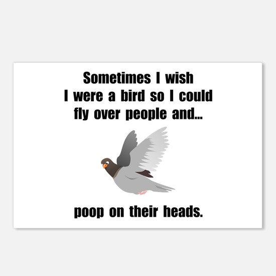Bird Poop On Head Postcards (Package of 8)