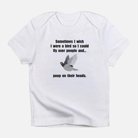 Bird Poop On Head Infant T-Shirt