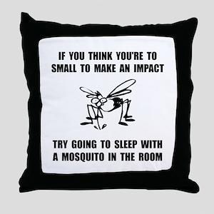 Mosquito Impact Throw Pillow