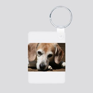 Hurry Home, I miss you Aluminum Photo Keychain