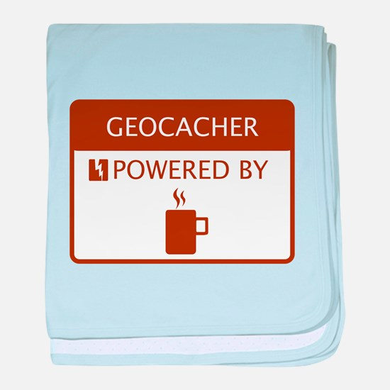 Geocacher Powered by Coffee baby blanket