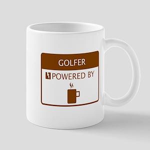 Golfer Powered by Coffee Mug