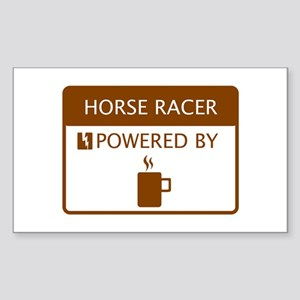 Horse Racer Powered by Coffee Sticker (Rectangle)