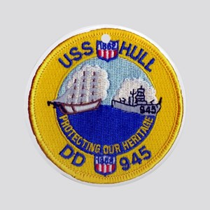 USS HULL Ornament (Round)