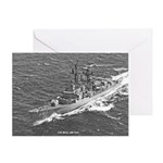 USS HULL Greeting Card