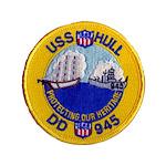 USS HULL Button