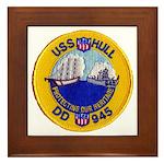 USS HULL Framed Tile