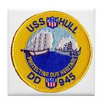 USS HULL Tile Coaster