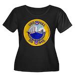 USS HULL Women's Plus Size Scoop Neck Dark T-Shirt