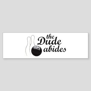 The Dude Abides Sticker (Bumper)