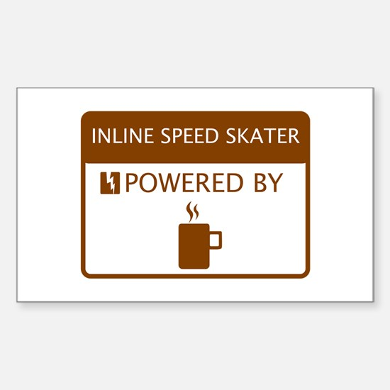 Inline Speed Skater Powered by Coffee Decal