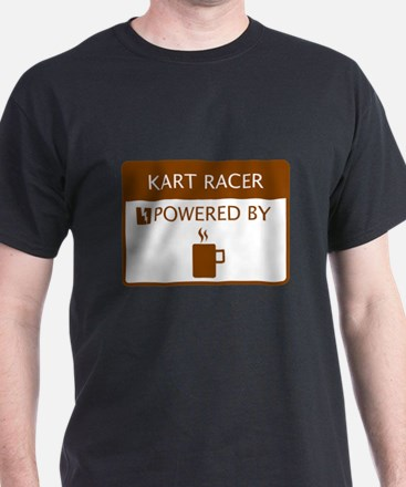Kart Racer Powered by Coffee T-Shirt