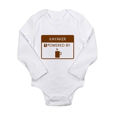 Kayaker Powered by Coffee Long Sleeve Infant Bodys