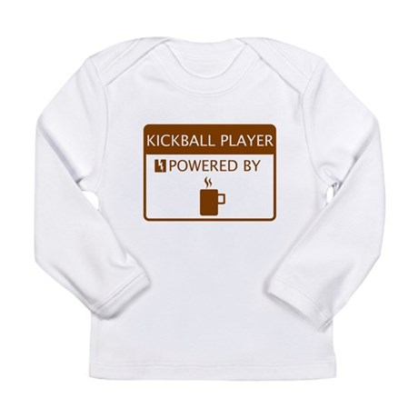 Kickball Player Powered by Coffee Long Sleeve Infa