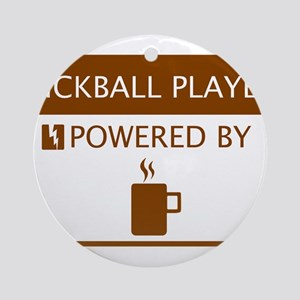 Kickball Player Powered by Coffee Ornament (Round)