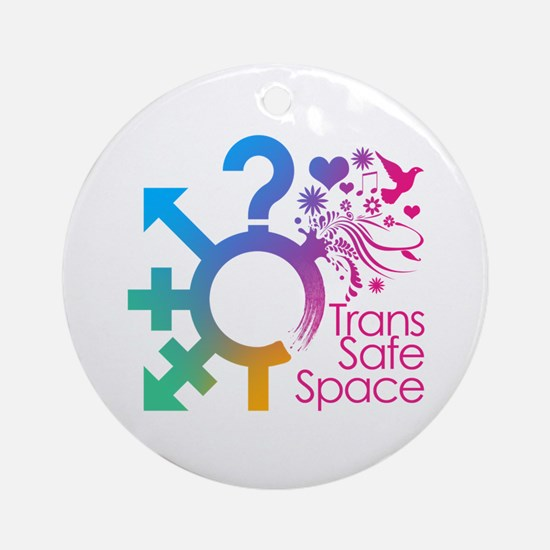 Trans Safe Space Ornament (Round)