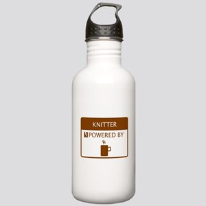 Knitter Powered by Coffee Stainless Water Bottle 1