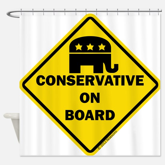 Conservative On Board Shower Curtain