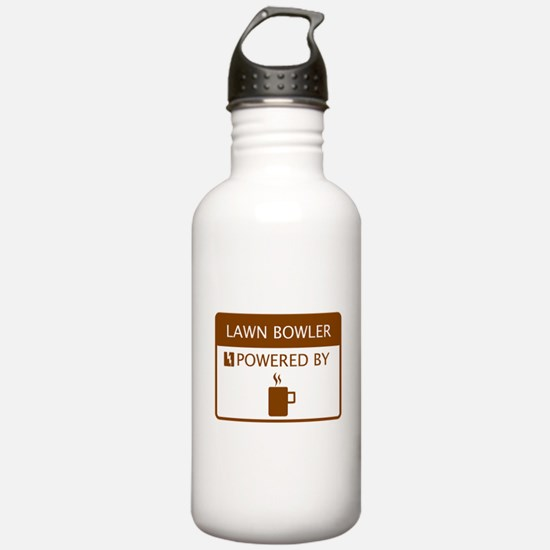 Lawn Bowler Powered by Coffee Water Bottle