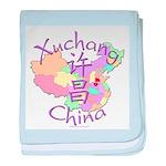 Xuchang China Map baby blanket