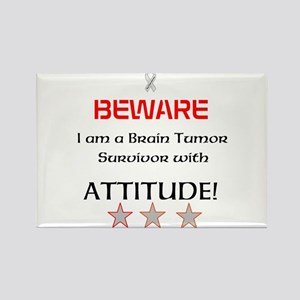 Brain Tumor Survivor with Attitude Rectangle Magne