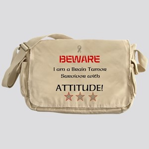 Brain Tumor Survivor with Attitude Messenger Bag