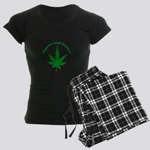 Support Local Farmers Women's Dark Pajamas