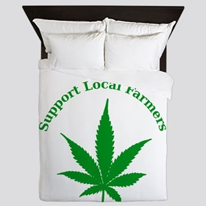 Support Local Farmers Queen Duvet