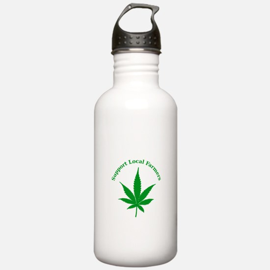 Support Local Farmers Water Bottle