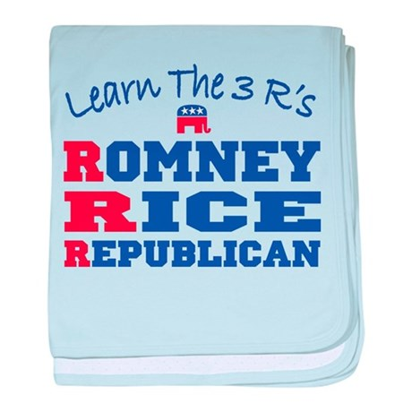 Romney Rice Republican 2012 baby blanket
