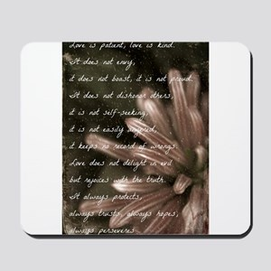 Love Is Patient BW Mousepad