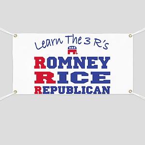 Romney Rice Republican 2012 Banner